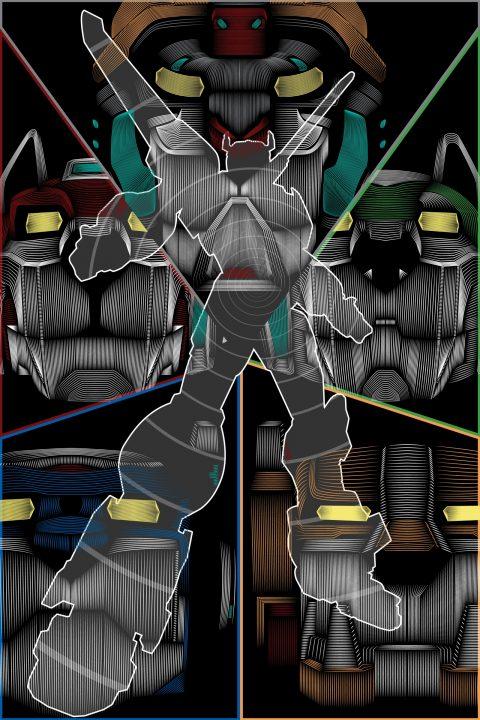 Voltron Legendary Defender- Vector Line Poster