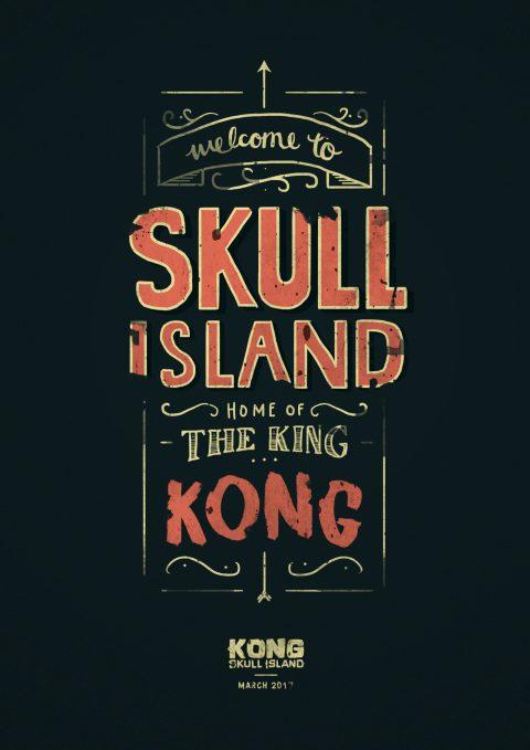 Skull island – Hand lettered poster