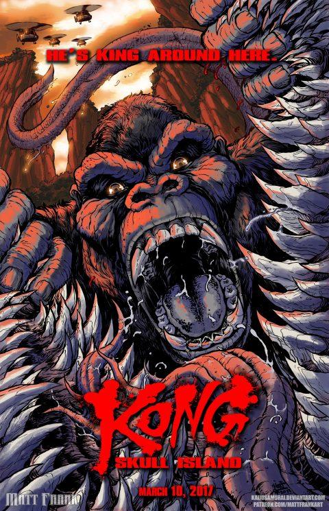 Kong: Skull Island Comic Style Poster by Matt Frank