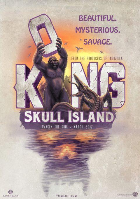 Kong: Skull Island 70s Sci-Fi Inspired Poster