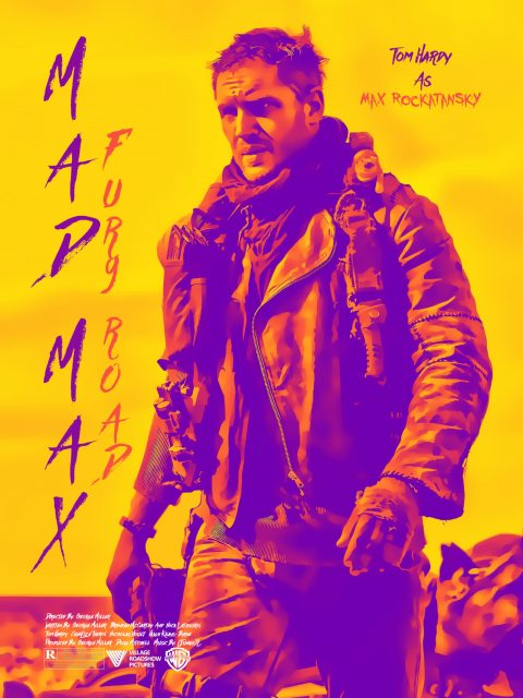 Mad Max Fury Road 80's style character poster