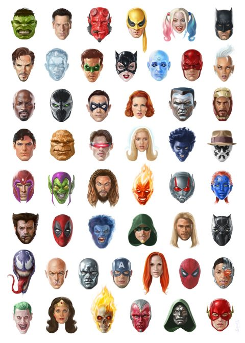 300 Heroes Faces 1