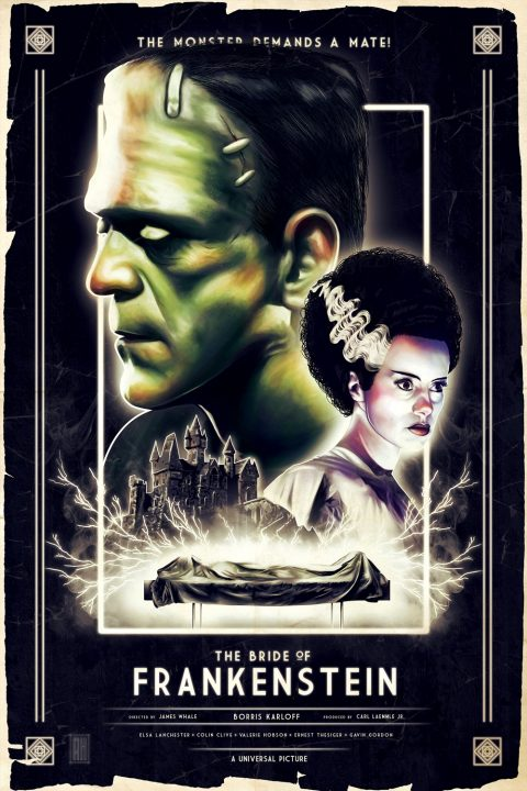 The Bride of Frankenstein (Original Film Poster)