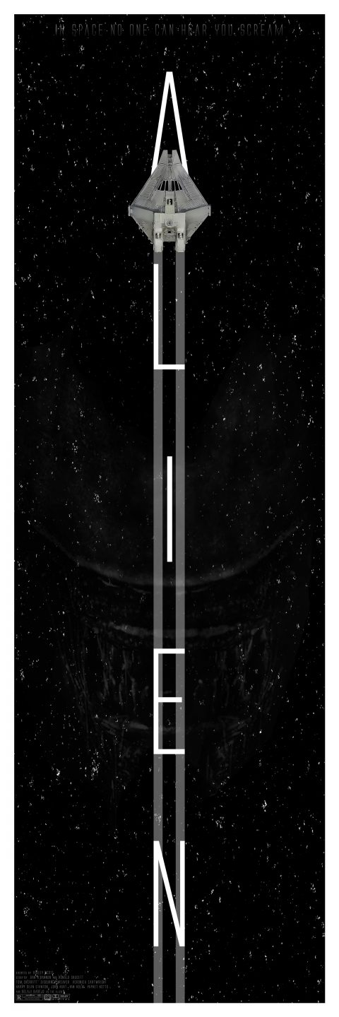 Alien 1979 Alternative Tall Movie Poster