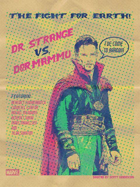 Doctor Strange Pop Art Alternative Poster