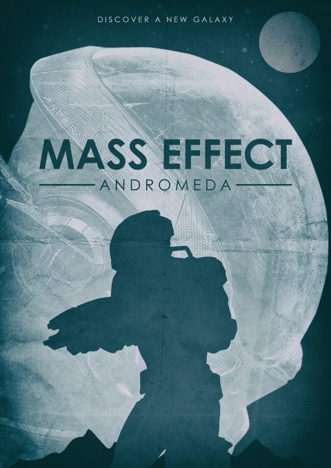 Mass Effect Andromeda Alternative Video Game Poster