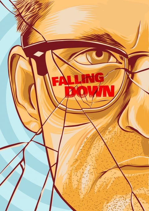 """Falling Down"" alternative movie poster artwork."