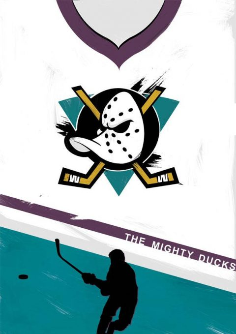Minimal Mighty Ducks 1992 film poster