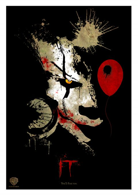 "PENNYWISE THE CLOWN ""IT"" 2017 Poster…"