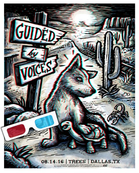 3D Gig Poster – GUIDED BY VOICES – Live at Trees, Dallas TX