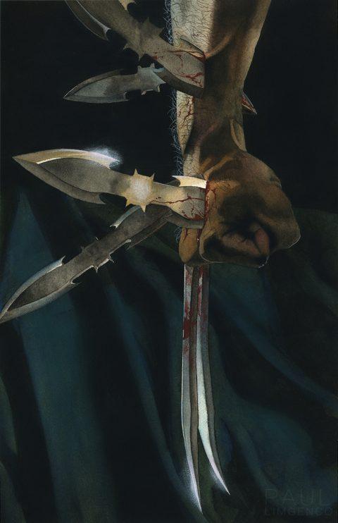 Wolverine Vs Batman painting
