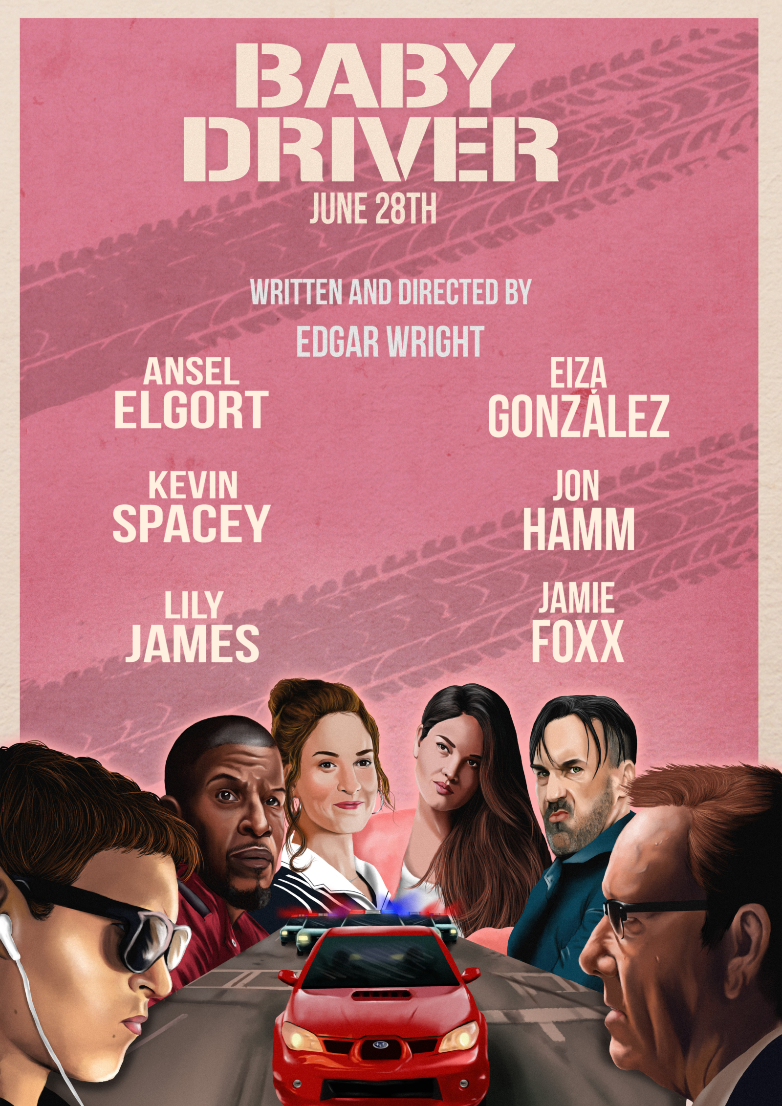 Baby Driver movie post... Baby Driver