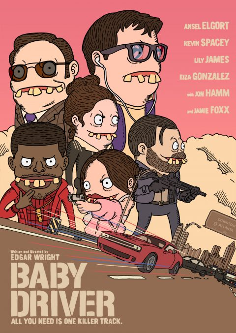 baby driver poster by arjeys_arty