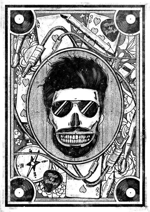 Self portrait Playing Card