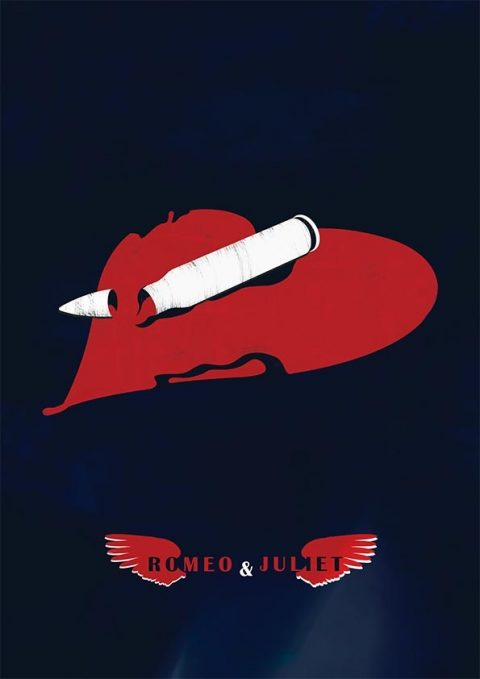 Romeo and Juliet minimal film poster
