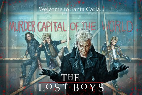 "The Lost Boys 30th tribute – ""Welcome to Santa Carla"" (BLACK, BLUE and RED)"
