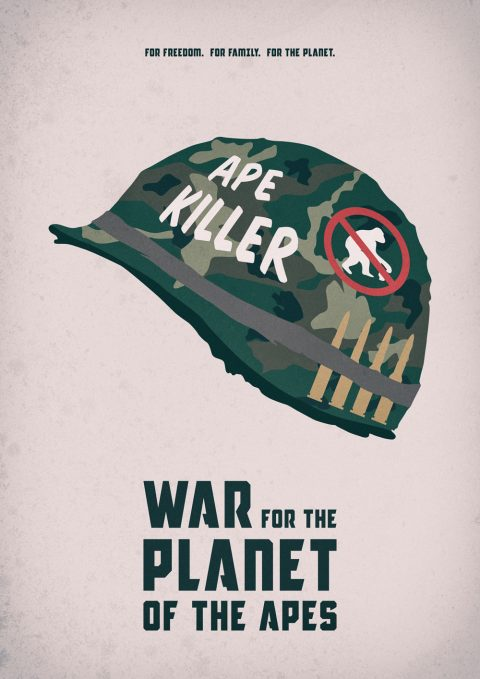 War For The Planet Of The Apes – Full Metal Jacket Inspired Alternative Movie Poster