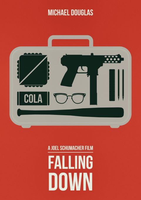 Falling Down 1993 Classic Action Film – Alternative Movie Poster Design