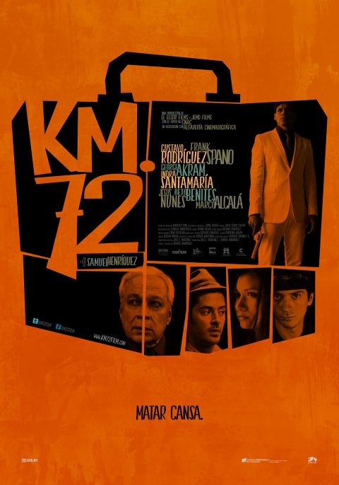 "Póster alternativo para largometraje ""Km. 72"" (2015)."