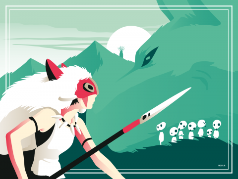 PRINCESS MONONOKE Poster Art
