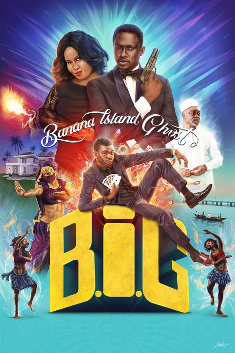 Alternative version – Banana Island Ghost – official movie poster