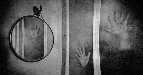 Evil inside mirrors