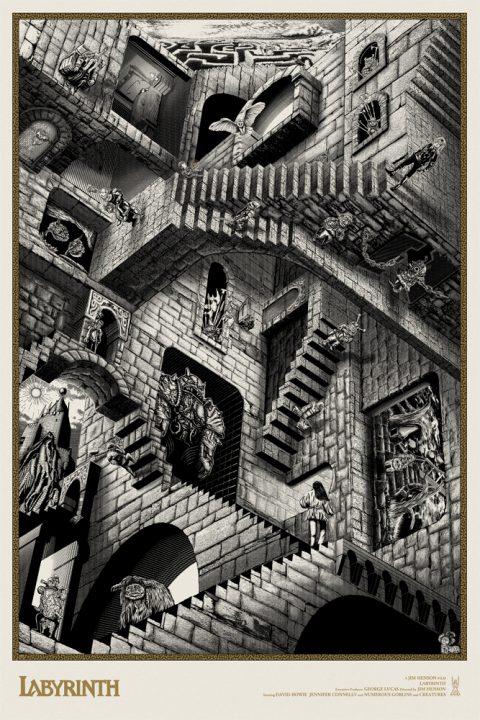 Labyrinth limited edition screen print.