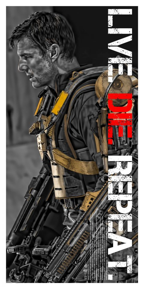 Edge of Tomorrow (Live Die Repeat) Tom Cruise Alternative Character Poster