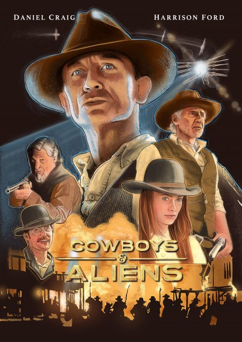 Cowboys and Aliens alternative movie poster