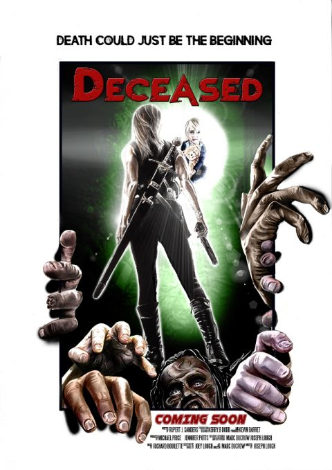"Hand Painted Movie poster for ""Deceased"""