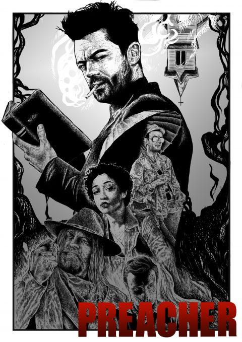 AMC UK Preacher Poster