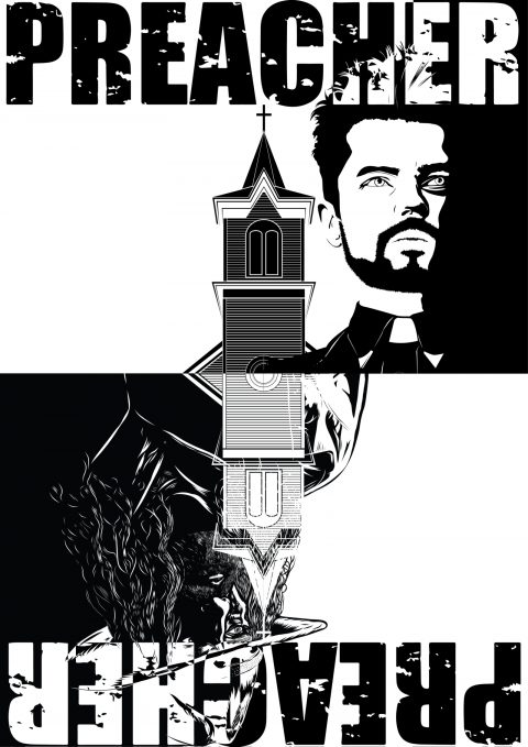 Preacher- (B&W vector)