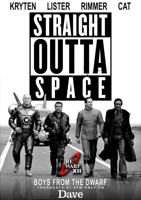 RED DWARF XII Poster 'STRAIGHT OUTTA SPACE'