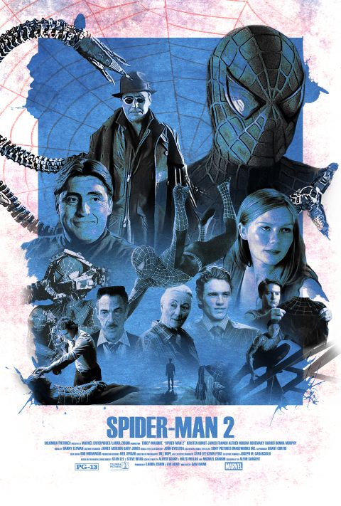 Vintage Spider-Man 2 (2004) Alternative Movie Poster
