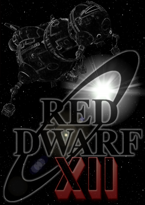 Red Dwarf XII Black and White Colour Splash