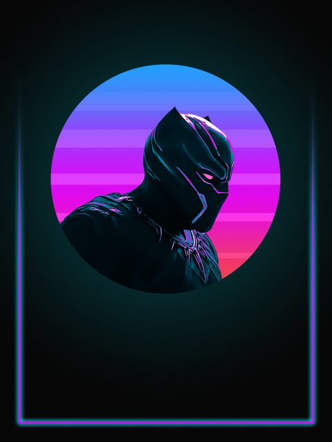 Black Panther 80's Character Poster