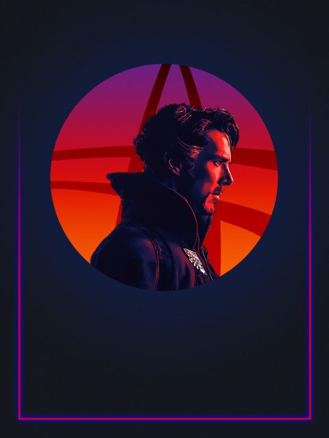 Doctor Strange 80's Alternative Character Poster