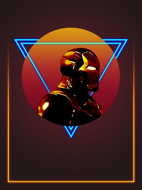 80's Iron Man Character Poster