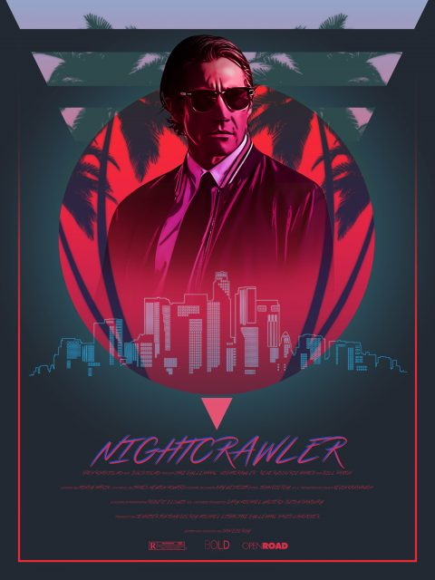 Nightcrawler 80's Alternative Movie Poster