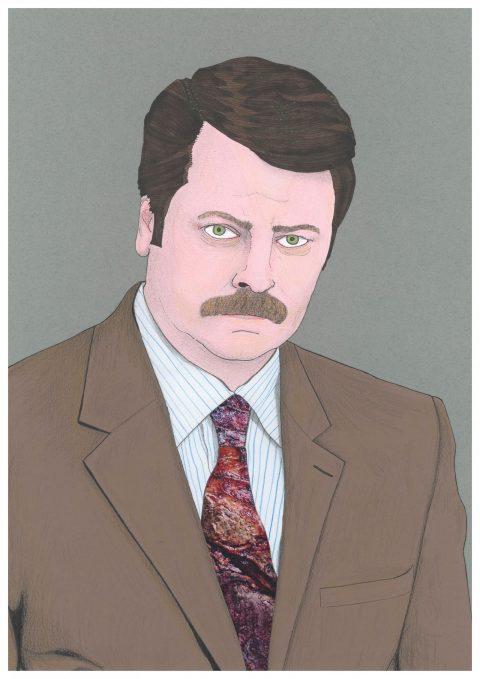 Ron Swanson portrait