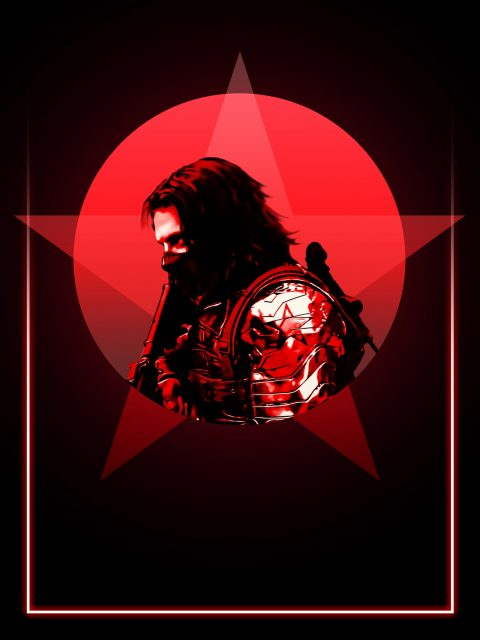 Winter Soldier 80's Character Poster