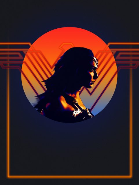 Wonder Woman 80's Character Poster