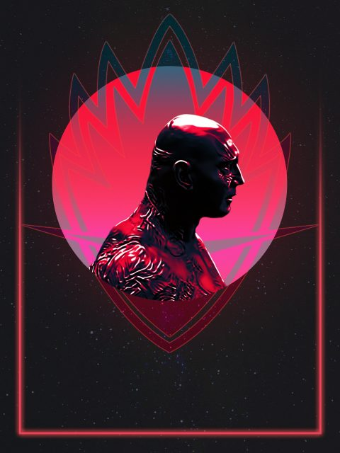 Drax 80's Character Poster