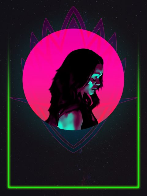 Gamora 80's Character Poster