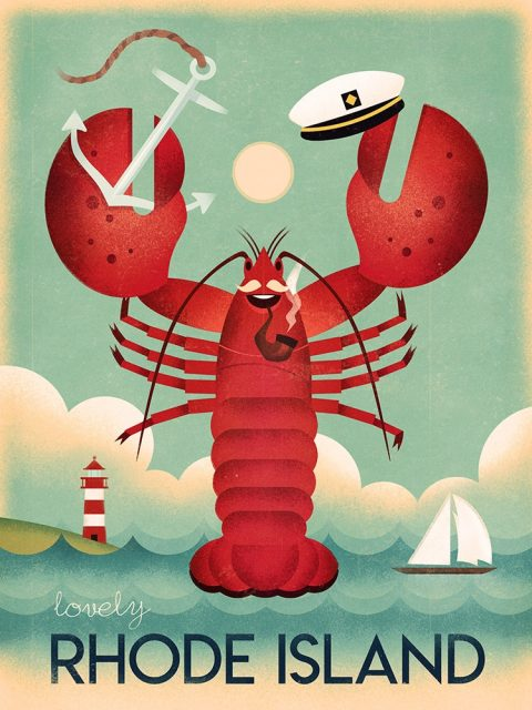 Rhode Island Travel Poster