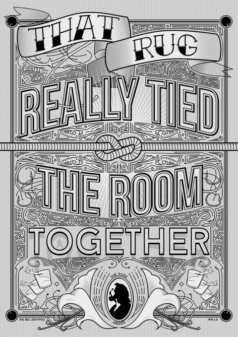 Big Lebowski Quote Poster