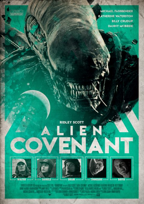 Alien Covenant Retro Poster