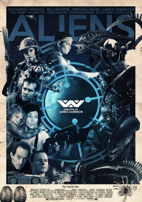 Aliens alternative poster designs