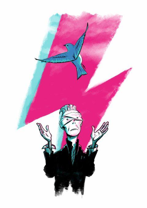 David Bowie / Lazarus (2016) – poster