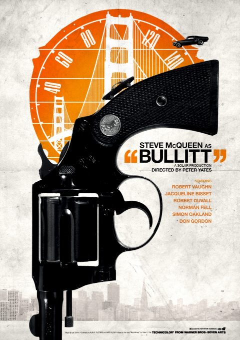 My alternative film poster design for 'Bullitt'.